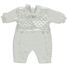 CARLINA Girls Baby Tauf Overall weiss