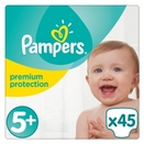 Pampers Windeln Premium Protection Gr. 5+ Jumbo Pack 13 - 25 kg 45 Stück