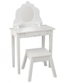 KidKraft Frisiertisch MEDIUM VANITY mit Hocker in weiß