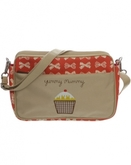 Pink Lining Mini-Wickeltasche YUMMY MUMMY CREAM BOWS rot